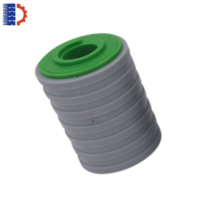 rolled plastic conveyor running roller rubber top wheels for belt conveyor system