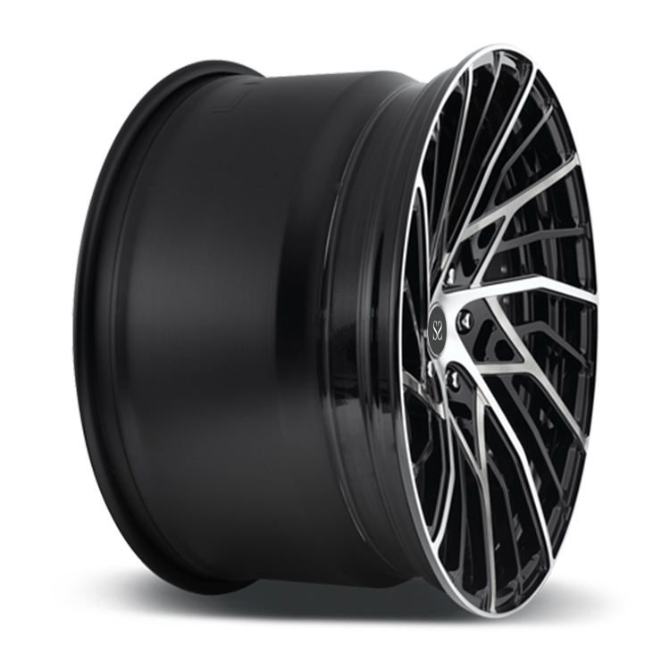 "Best Price New Style Heavy Duty 21"" Staggered 2-PC Black Machined Face Forged Rims For Aventador"