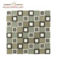 iran pebble white and green ceramic mix glass mosaic tile