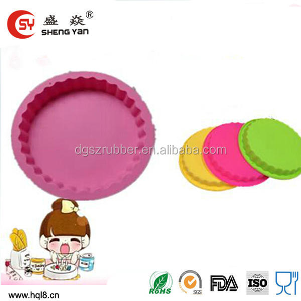 wholesales silicone donut round bread baking pan