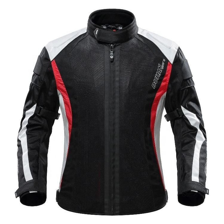 2019 New Design Breathable Removable Protector Moto Jacket DUHAN Motorcycle Jacket For Summer