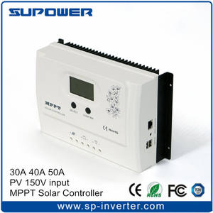 2017 2nd Generation 99% Max. Efisiensi PV Input DC 150V 10A 30A 40A 50A Layar LCD MPPT Solar Charge Controller PV Regulator