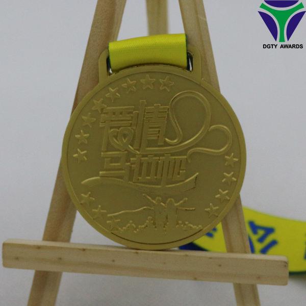 Personalizado de metal rua gerard amor medalha Maratona corrida correndo fabricação