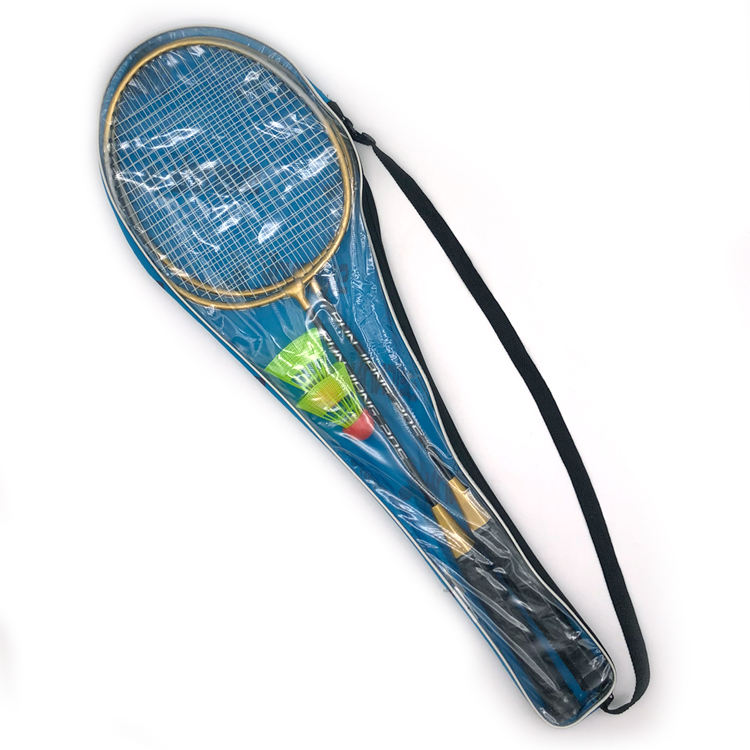 Good price steel iron material custom OEM logo and color low price fitted package cheap badminton racket wholesale