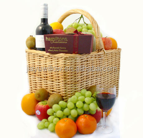 Wholesale Wicker Fruit, Wine and Chocolate Hamper