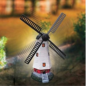 Tuin Vuurtoren Ornament Decoratie Zonne-energie Led Windmolen