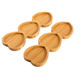 Bamboo 3 Part Heart-shaped Snack Plate Dried Fruit Plate Dessert Dish Appetizer Breakfast Plate