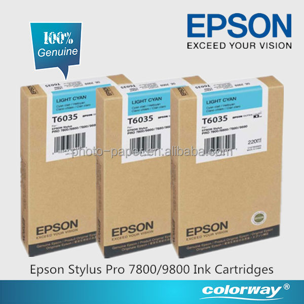 Epson Stylus Pro 7800 Ink Cartridges Genuine Epson T6035 Light Cyan Ink Cartridge 220ml (C13T603500)