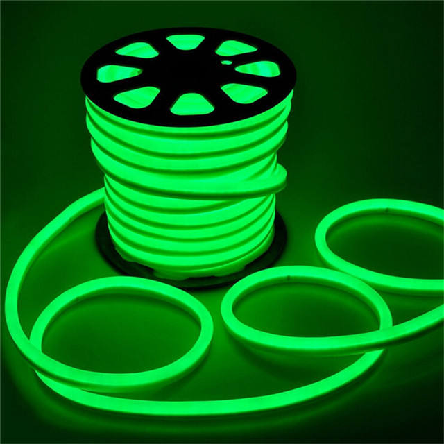 LED Flexible AC 220 V SMD 5050 RGB LED Neon Flex LED Tube 60 LED IP68 Tahan Air Tali Lampu Neon