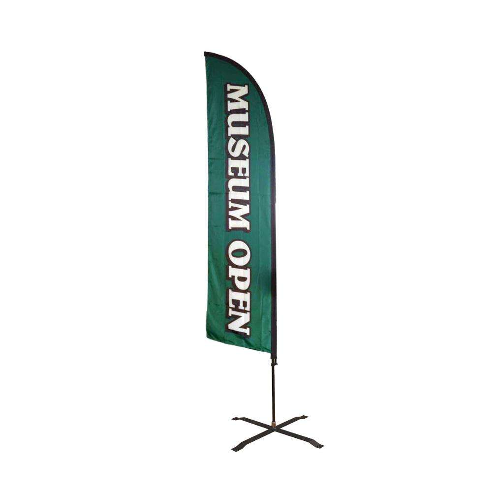 Best Burgers In Town King  Size  Polyester Swooper Flag Banner Sign