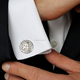 2018 Men Fashion Accessories Stainless Steel Blank Pattern Cufflinks