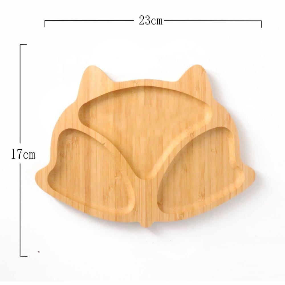 Healthy Eco-friendly For Children Lovely Cartoon Shaped Bamboo Plates