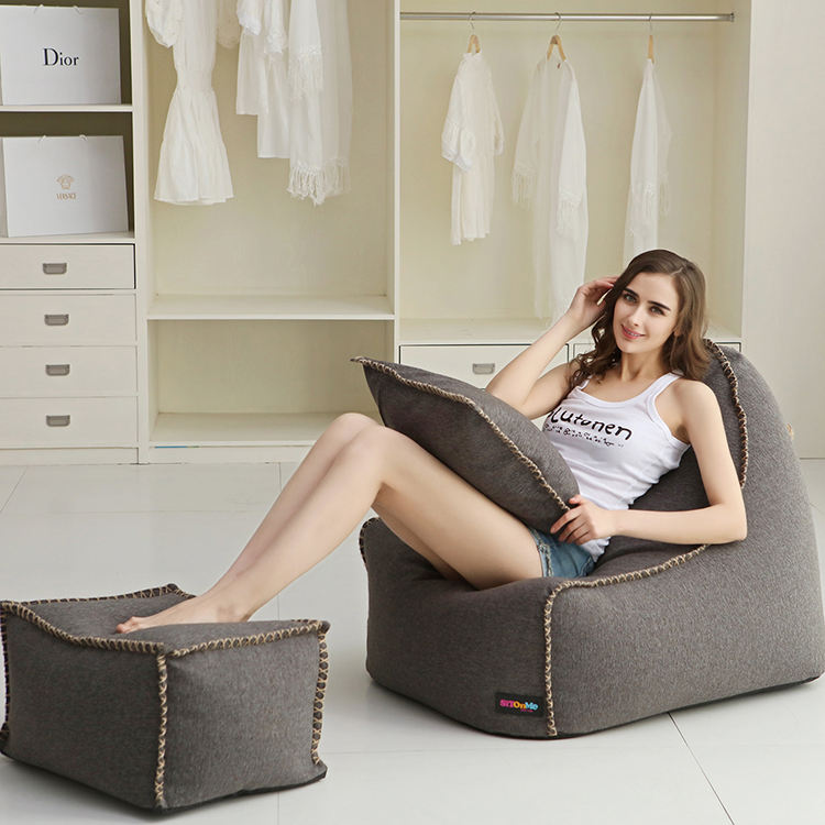2019 fashion modern Reading relaxing lazy bean bag corner sofa
