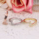Ring Micro Setting Rings Ring Setting Vintage Letter Z Ring Set Half Micro Pave Setting Engagement Rings Women Great Jewelry Gift Daily Accessory Bisuteria SJLRS02