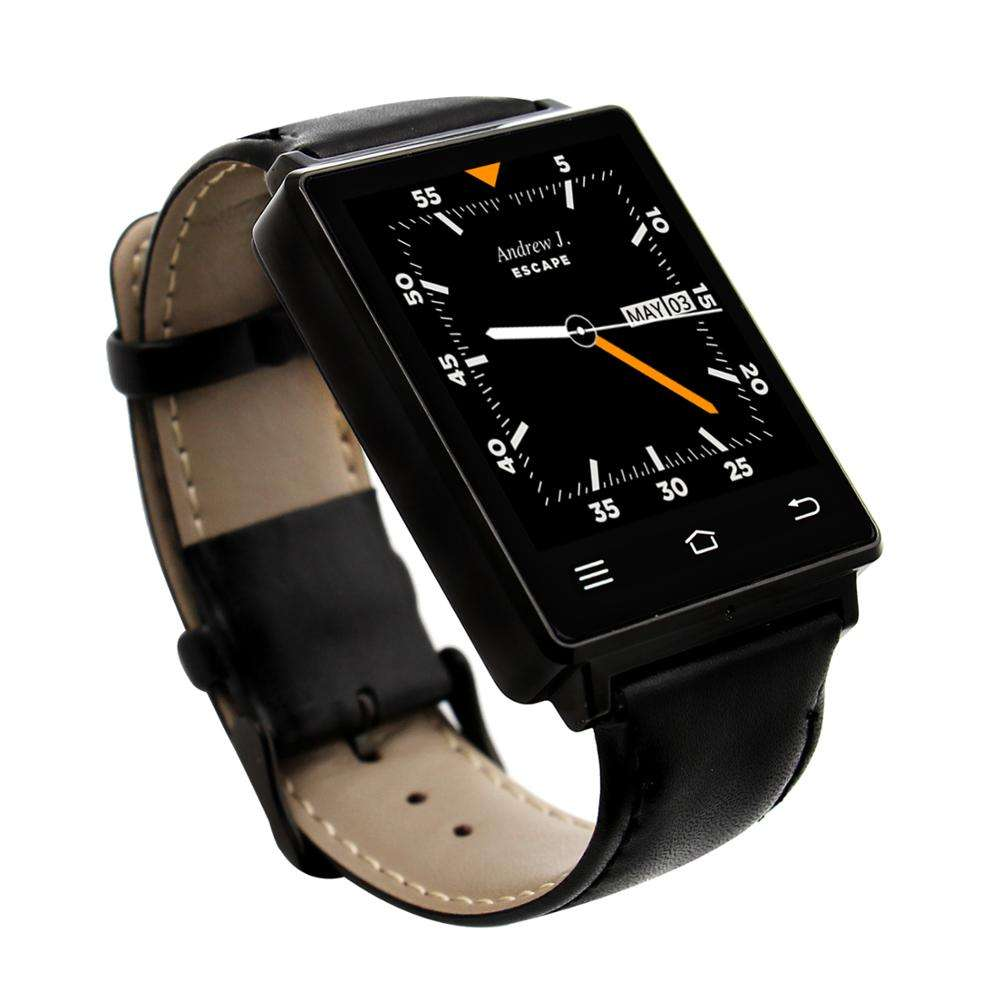 Multifunction D6 Smart Watch 3G Smart Watch Phone Support WIFI /GPS/FM /SIM Card With Leather Strap For Android 5.1