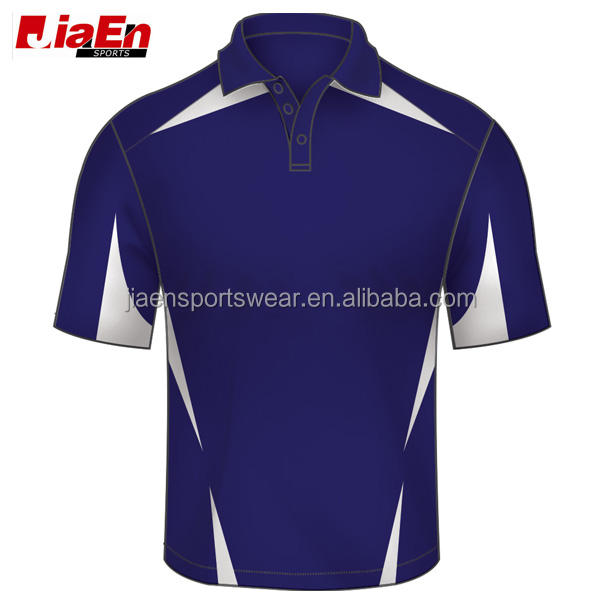 high quality sublimation custom new zealand cricket team jersey designs royal blue cricket jerseys