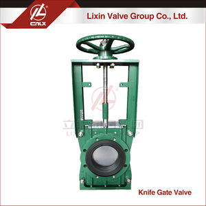 Bi-directional WCB body rubber sleeve lining soft seal slurry knife gate valve manufacturer