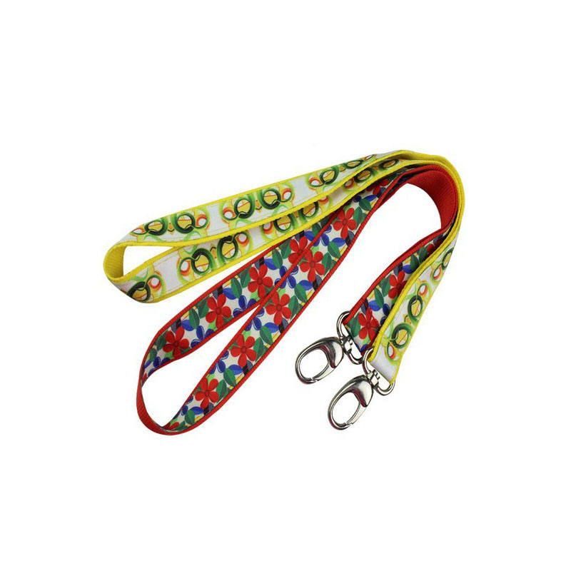 High Quality Custom Dye Sublimation Printing Polyester ID Badge Neck Lanyard