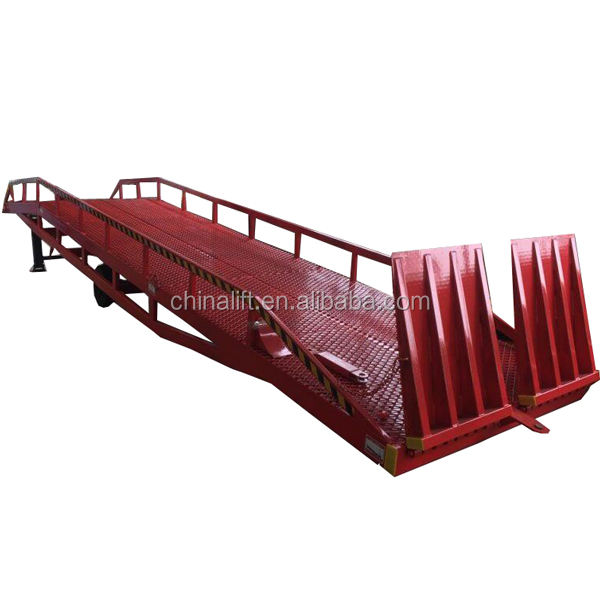 CE ISO container mobile bridge unloading ramp lift truck ramp used for forklift 8t 10t 12t
