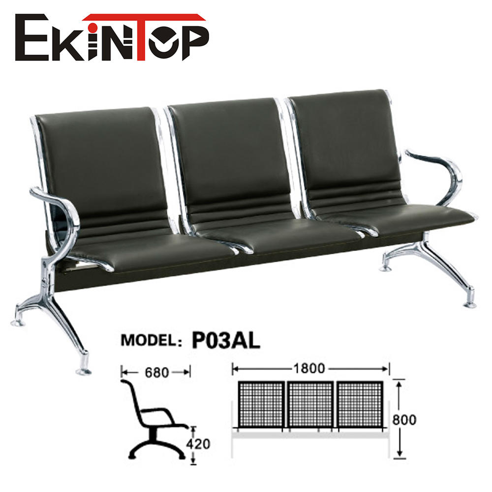 Hot sale tandem 3 seat airport public PU waiting chair