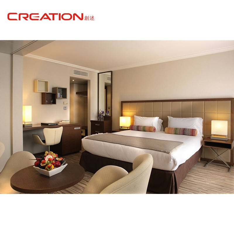 Customized new modern high quality hotel bed room furniture set