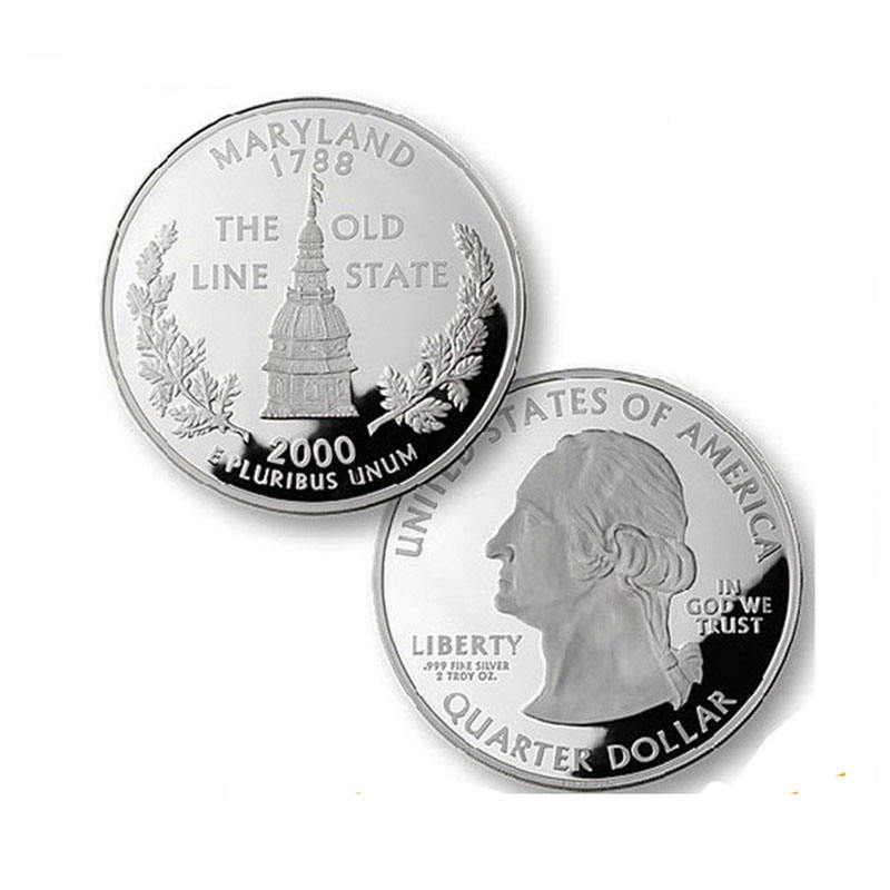Collectible free design die coins silver 999 stamp stainless steel reeded edge custom souvenir us coins silver dollar