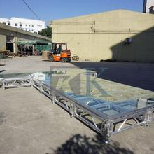 high quality glass stage plate for catwalk/T-show/event/car show