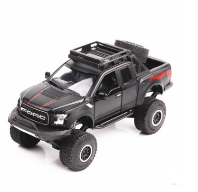 Juguete de la aleación de la rueda grande del coche de fricción con sonido y caja de regalo de 1:32 de la luz Cuadrado de la ATV