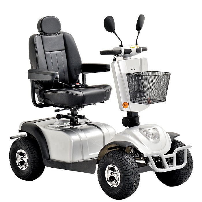 CE Heavy Duty 4 Wheel Single Seat Mobility Scooter For The Handicapped