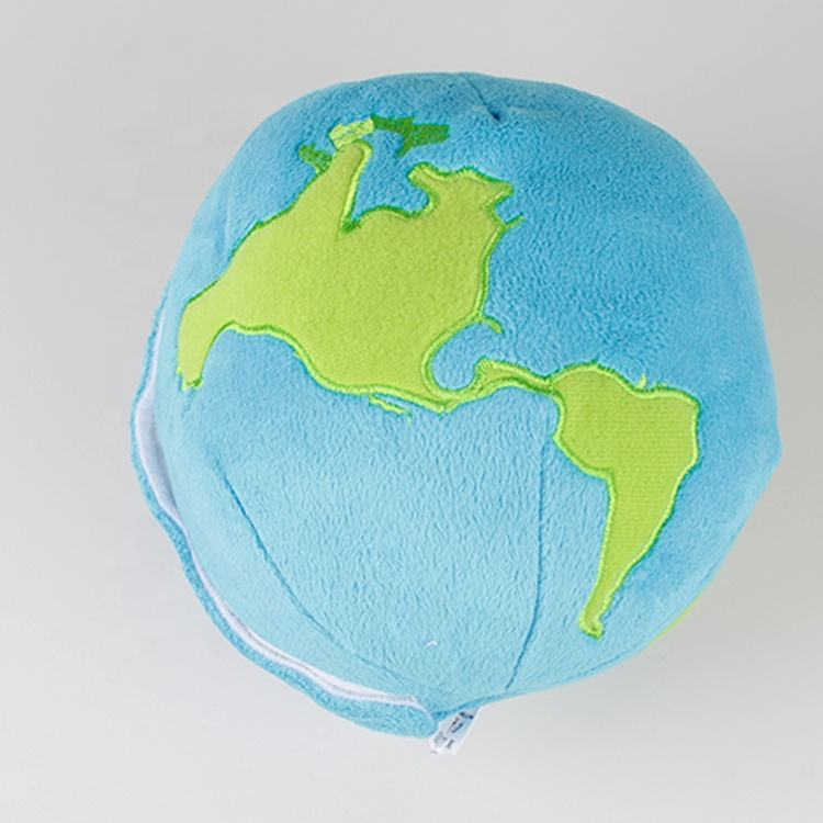 High quality custom stuffed space globe planet moon plush earth doll toy