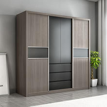 Furniture New Product High Quality Best Selling Products Fashion Design Tube Door Sliding Rollers Easi Wardrobe Storage Closet