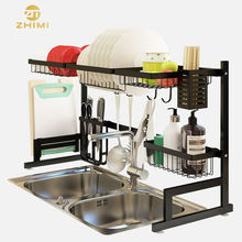 Hot Sale 201 Stainless Steel Kitchen Storage Organizer Over the Sink Dish Drying Rack