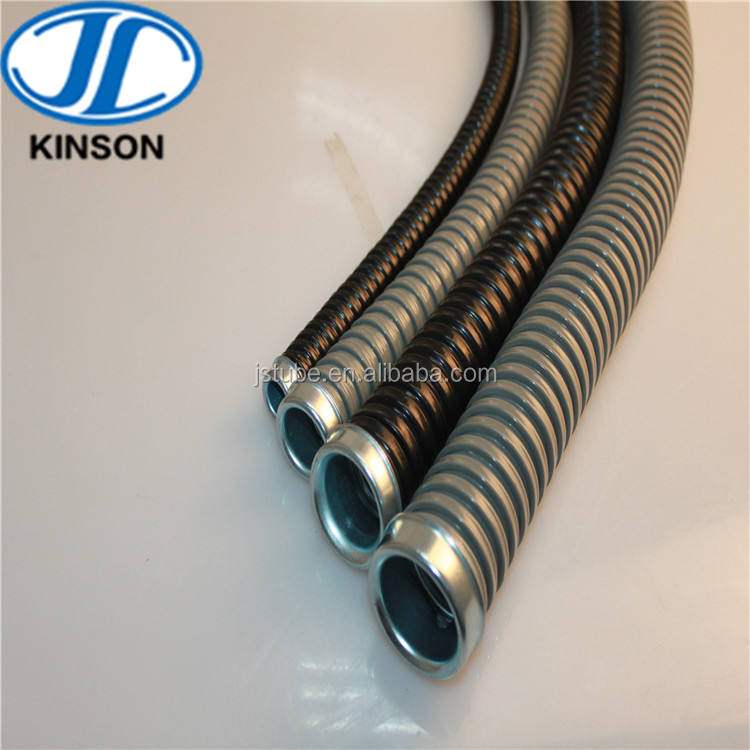 fire resistant pvc coated flexible steel electrical pipe for conduit wiring