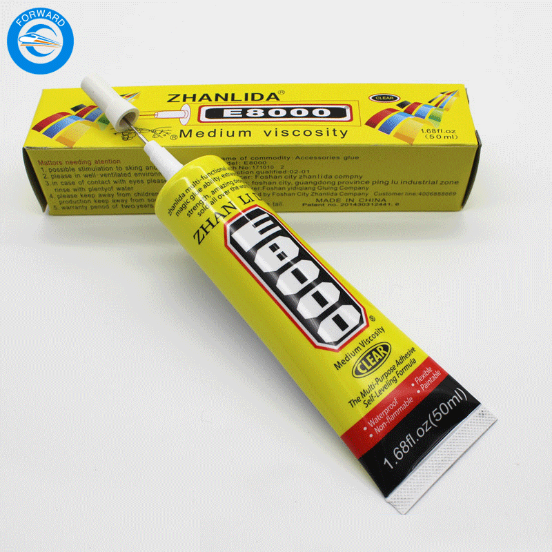 FORWARD Best Multi Purpose Adhesives E-8000 50ml Liquid Glue For Glass Mobile Phone And Other Decorations