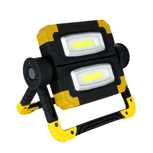 Cordless 4AA Battery Outdoor Hunting Camping Emergency Work Light Floodlight Folding 20W COB LED Worklight with Stand