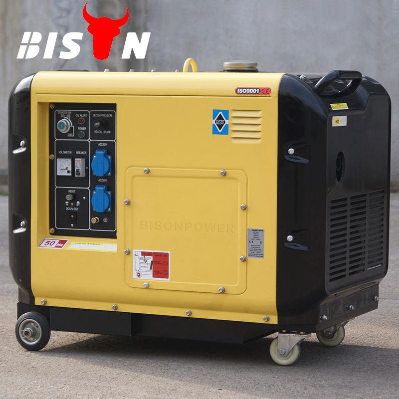 Bison china venta caliente 5 kw 5 kva 5000 vatios 3 fase generador diesel portable servicio de comentarios