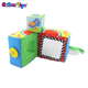 BobearToys baby educational kids learning toys fabric soft plush square cubes building blocks infant best interactive toys