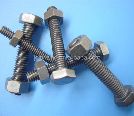 China Mild steel hex bolts and nuts BSW natural finish low price