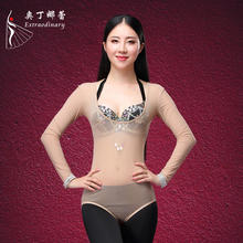 Women Sexy Long Sleeves Dancewear Bodysuit Belly dance Leotard