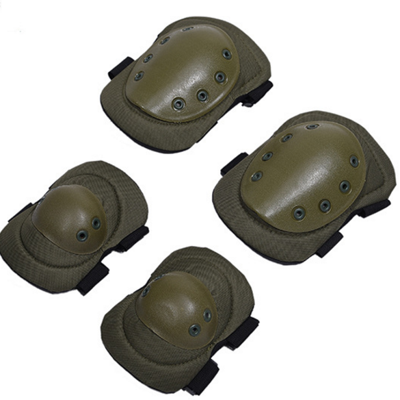 4 Piece Set Outdoor Military Tactical Knee Pads+Elbow Brace Protector for Riding Mountaineering Knee Support CS Equipment