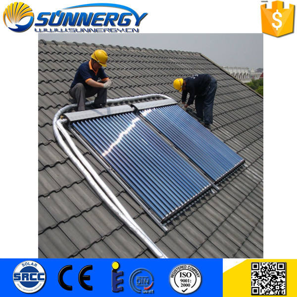 Factory Directly solar keymark certified heat pipe collector with cpc Customized