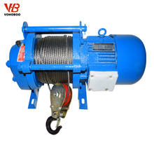300kg - 2000kg Small Size Electric Winch 380V / 3 Phase lifting hoist with trolley