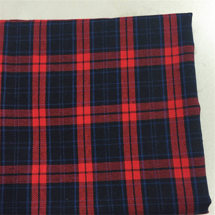 Factory Direct Sales yarn dyed tartan Plaid Flannel Printed Fabric