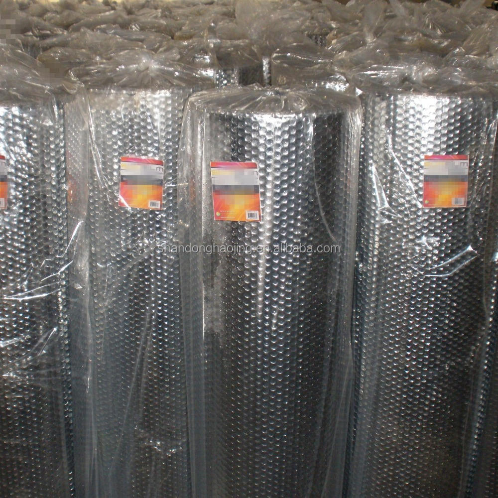 Aluminum Foil / PET / PE Single Layer Air Bubble Laminated Plastic Insulation Film Roll For Industrial Packaging