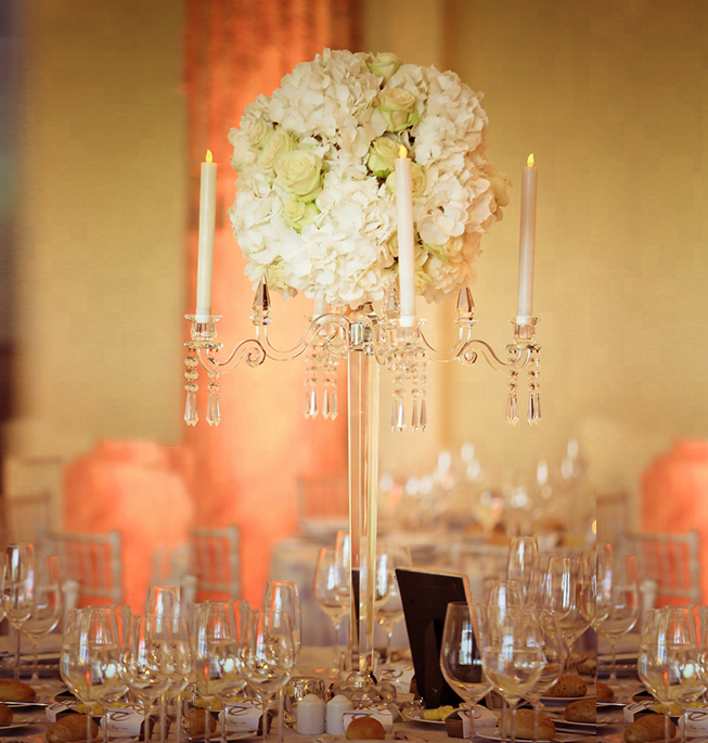 Beautiful crystal candelabra wedding centerpieces for table decorative/flower stand