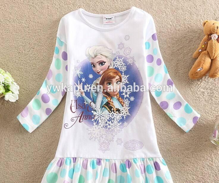 冷凍エルザドレス卸売、 ベビードレス写真、 女の子のための赤ん坊の服