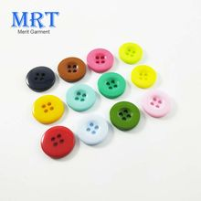 10mm 11.5mm 12.5mm Colorful plastic button, 4-holes buttons for clothes children