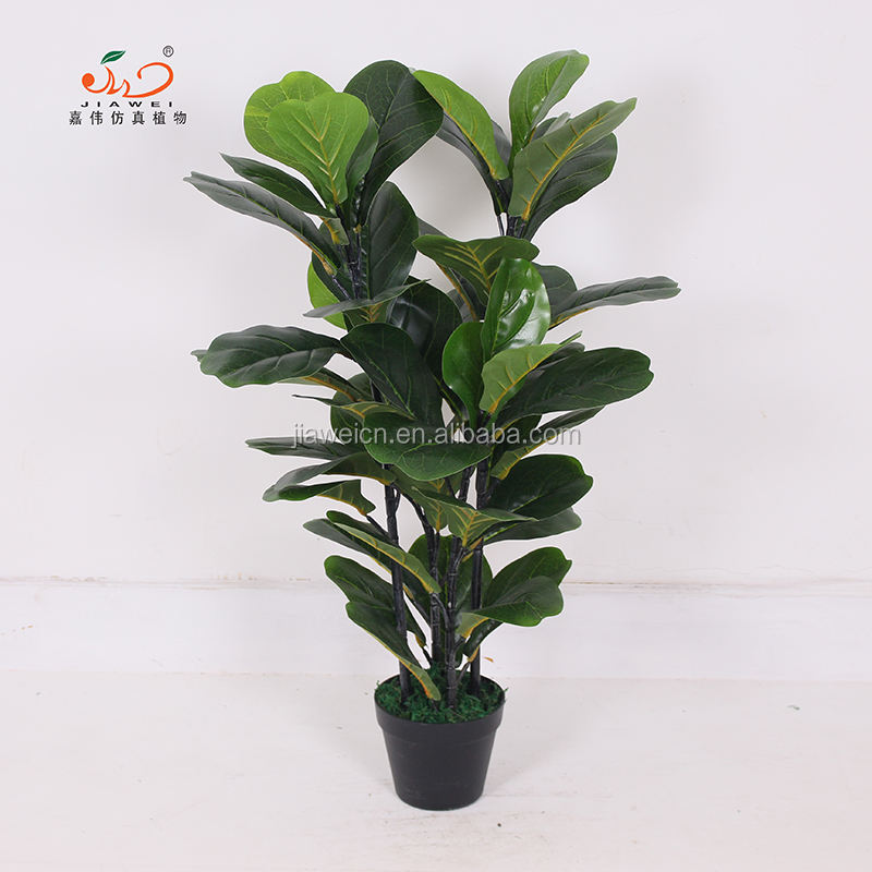 model making artificial fiddle leaves tree and plant yiwu factory