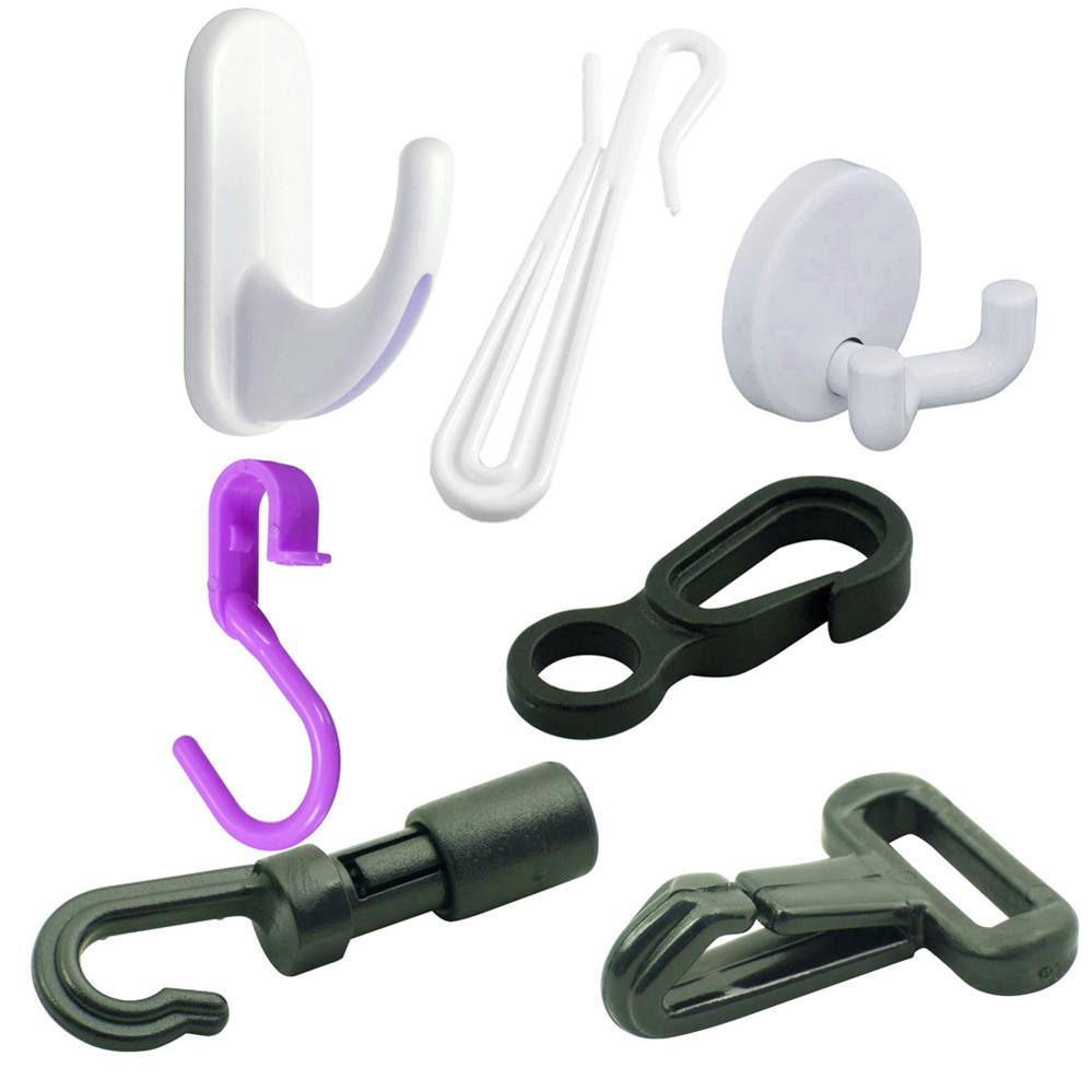 Factory Direct Sale Molded S Shape Plastic Injection Ceiling Hook