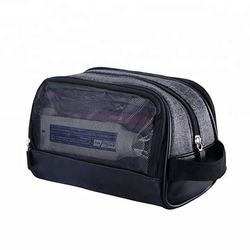 Water-proof Travel Kit Toiletry Bag for Men with Side Hand Strap